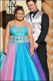 blue and purble matric dance dress