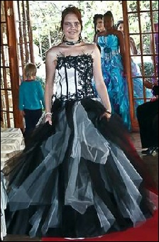 black and silver matric dance dress