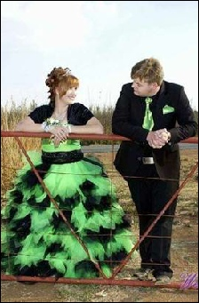 green matric dance outfit