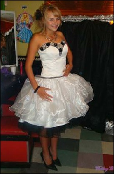 white and black matric dance dress